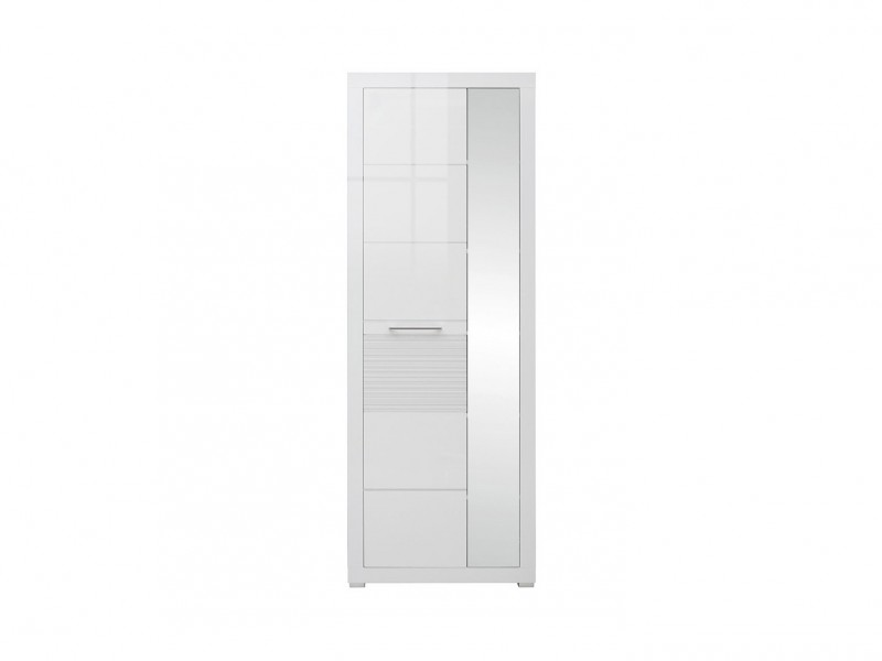 Single Mirror Door Wardrobe - Flames (REG1L1D/20/7)