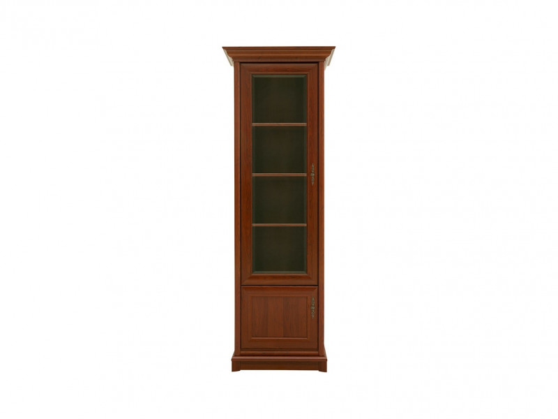 Dresser Glass Display Cabinet Unit Left Classic Style Traditional Living Room Furniture Chestnut Finish - Kent (S10-EWIT1dL-KA-KPL05)