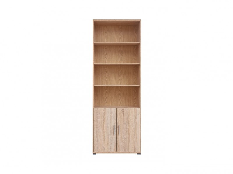 Bookcase Shelf Cabinet - BRW OFFICE (REG2D/220)