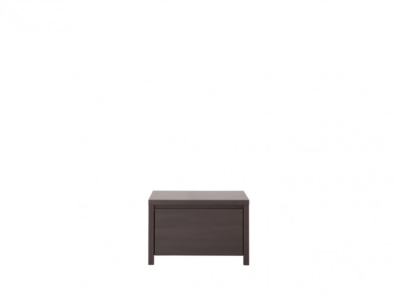 Modern Bedside Cabinet Table Bedroom Storage Dark Wood Wenge - Kaspian (S128-KOM1S-WE/WE-KPL01)