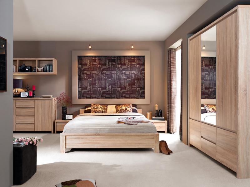 King Size Bedroom Furniture Set Oak finish - Kaspian (KASPIAN KNG BED SET DSO)