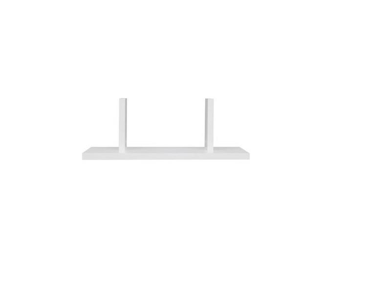 Modern White Display Shelf 40cm Mounted Under Kitchen Cabinet - Junona  (K24-POL/40-BI-KPL01)