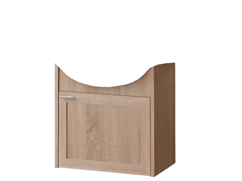 Modern Wall Mounted Bathroom Vanity Sink Cabinet Storage Unit Oak - Piano (PIANO_820_OAK)