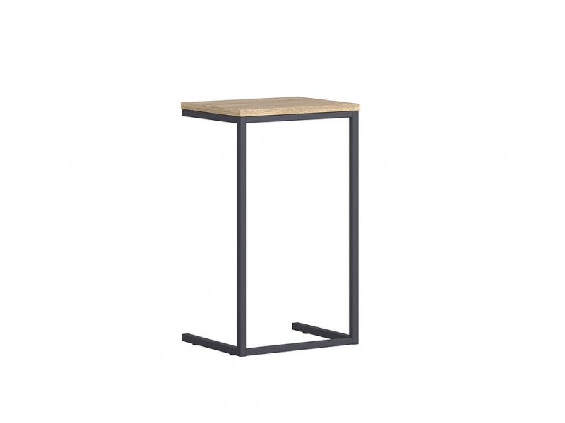 Industrial Narrow Over Arm Side Table Laptop Coffee Table  Metal Frame Oak - Gamla (L79-DST-GOK-KPL01)