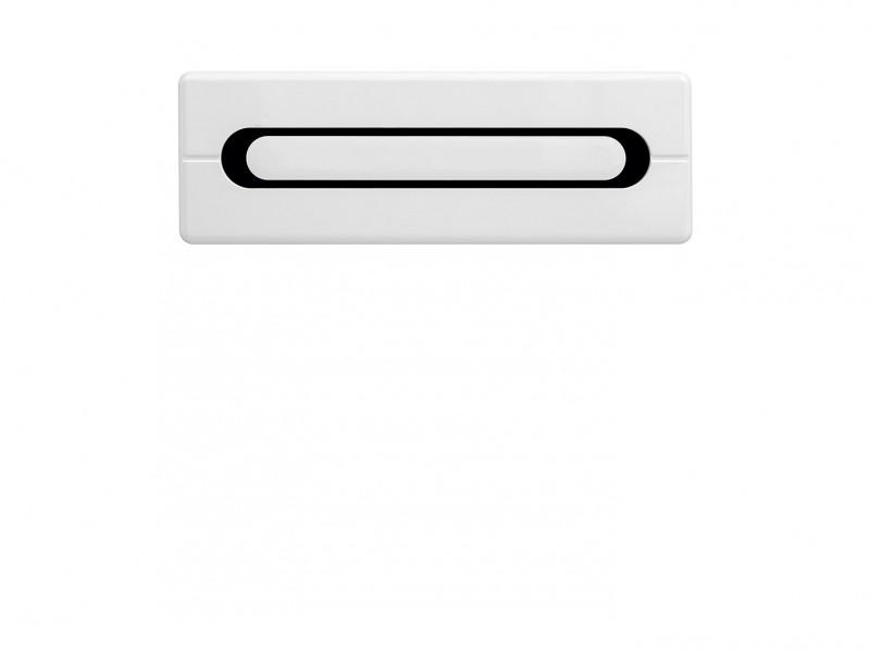 Wall Cabinet White High Gloss - Byron (S220-SFW1K/4/12-BIP/DSAJ-KPL01)