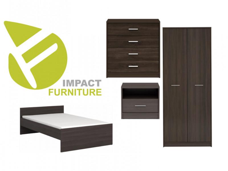 Children`s Bedroom Furniture Set Modern Wenge, White or Sonoma Oak Finish- Nepo (NEPO KID SET WENGE)