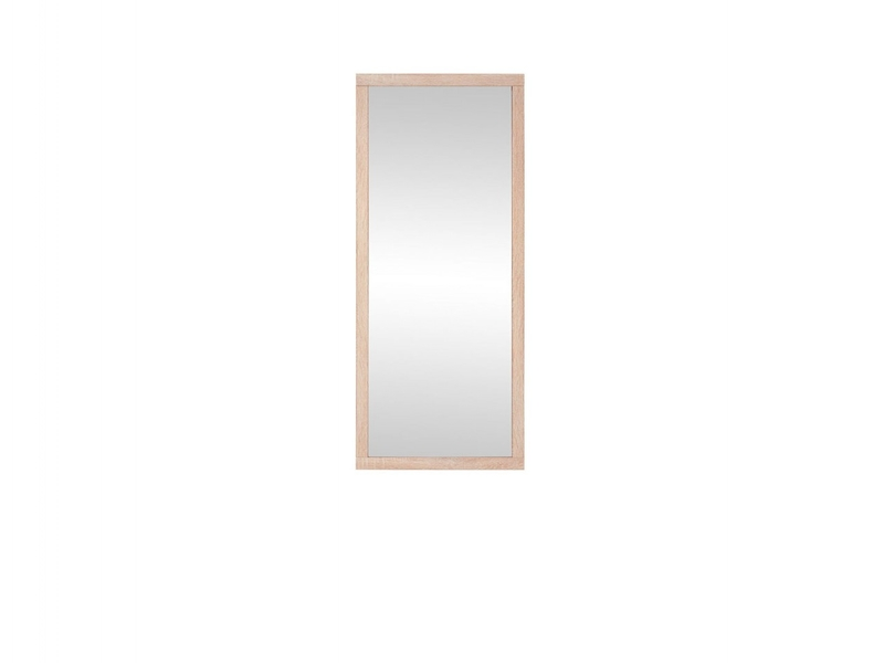 Modern Mirror Rectangular Wall Hung Sonoma Oak Effect Finish - Kaspian (S128-LUS/50-DSO-KPL02)