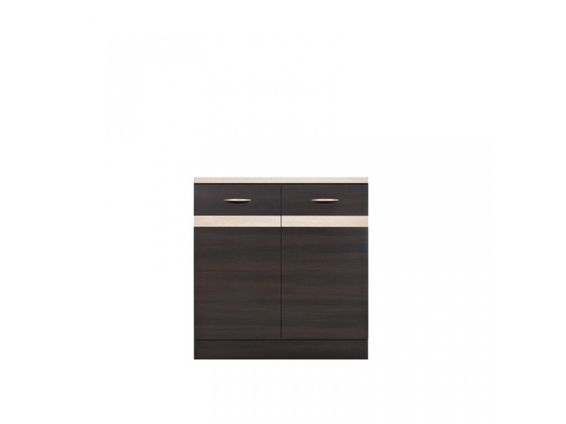 Modern Free Standing Kitchen Cabinet Base Cupboard 2-Door Unit 80cm - Junona (K22-D2D/80/82-WE/DSO/DSO-KPL01)