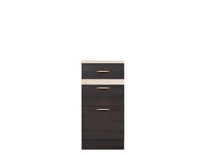 Modern Free Standing Kitchen Cabinet Cupboard Base 3-Drawer Unit 40cm - Junona (D3S/40/82)