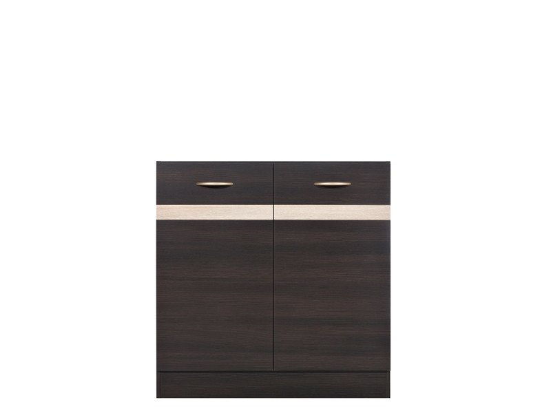 Modern Free Standing Kitchen Cabinet Cupboard Under Sink Unit 80cm - Junona (K22-DK2D/80/82-WE/DSO-KPL01)