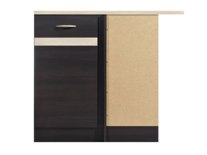 Modern Free Standing Kitchen Cabinet Corner Base Unit 100cm Right - Junona (K22-DNW/100/82_P-WE/DSO/DSO-KPL01)