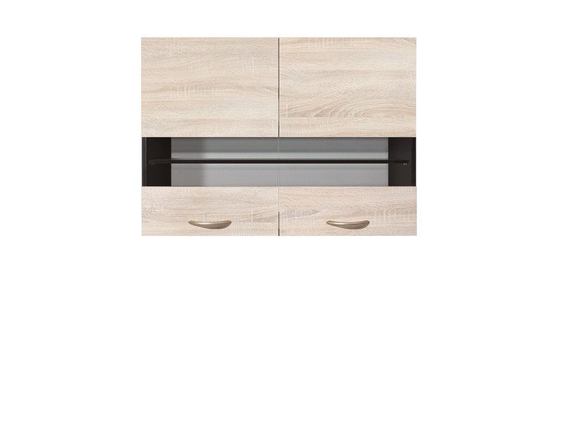Modern Free Standing Kitchen Cabinet Cupboard Glass Wall Unit 80cm - Junona (K22-G2W/80/57-WE/DSO-KPL01)