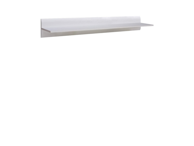 Modern 105 cm Wall Mounted Floating Display Shelf White Finish - Azteca (S205-P/2/11-BIP/BI-KPL01)