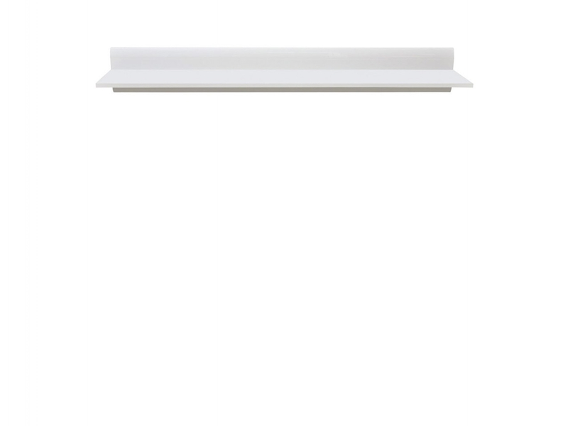 Modern Wall Mounted Display Shelf 150 cm White - Azteca (S205-P/2/15-BIP/BI-KPL01)
