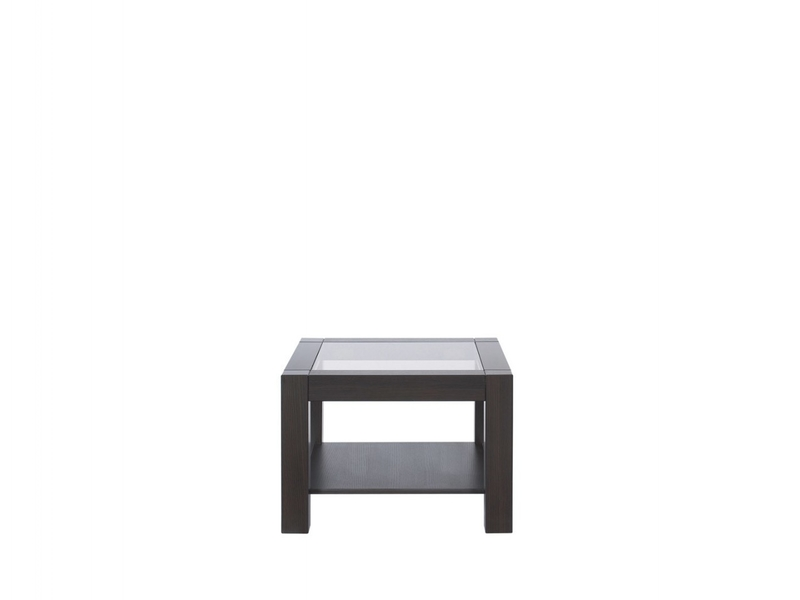 Coffee Table Square Design with Glass Top - Rumbi (RUMBI 64)