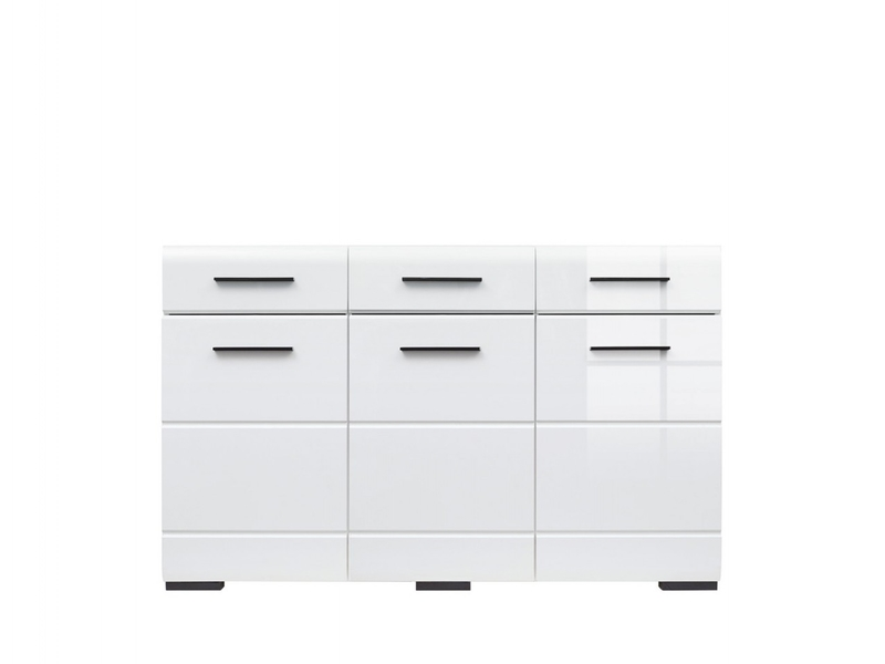 Fever - Wide Sideboard Dresser Cabinet White High Gloss (KOM3D3S/9/15)