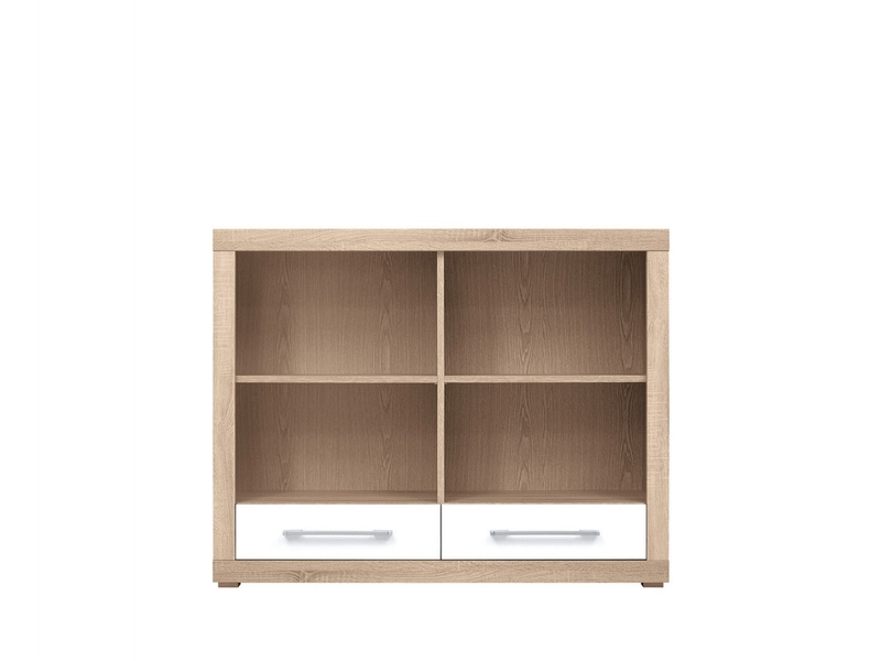 Bookcase Shelf Cabinet With Drawers - Bigi (REG2S/124/98)