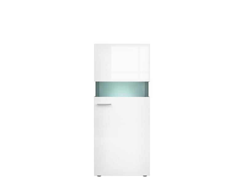 Desert - Glass-Fronted Display Cabinet White Gloss (REG1W/14/6)