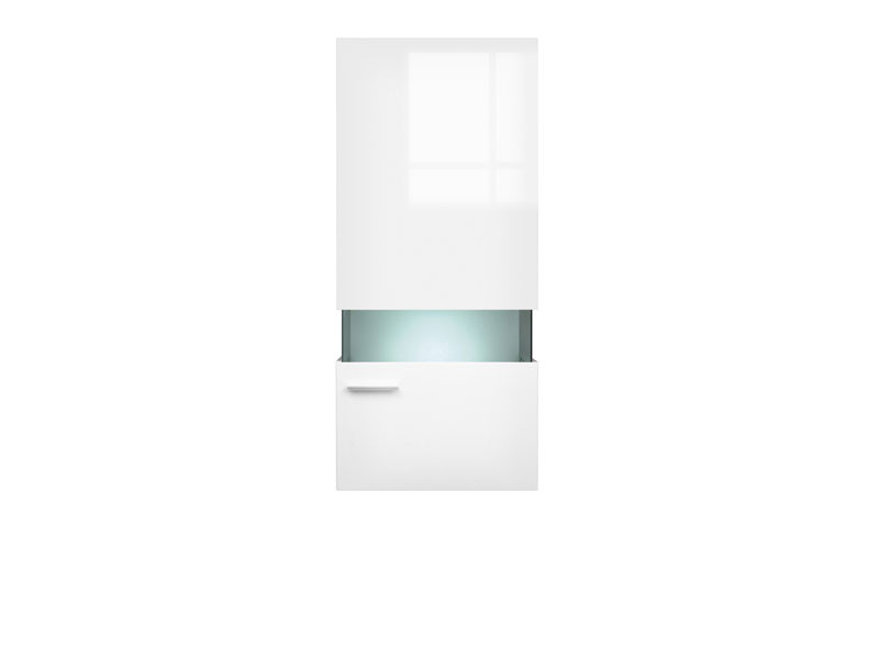 Desert - Wall-Mounted Glass-Fronted Display Cabinet in White Gloss (SFW1W/14/6)