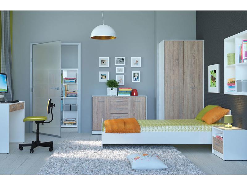 Single Bedroom Furniture Set - Nepo (SING-SET)