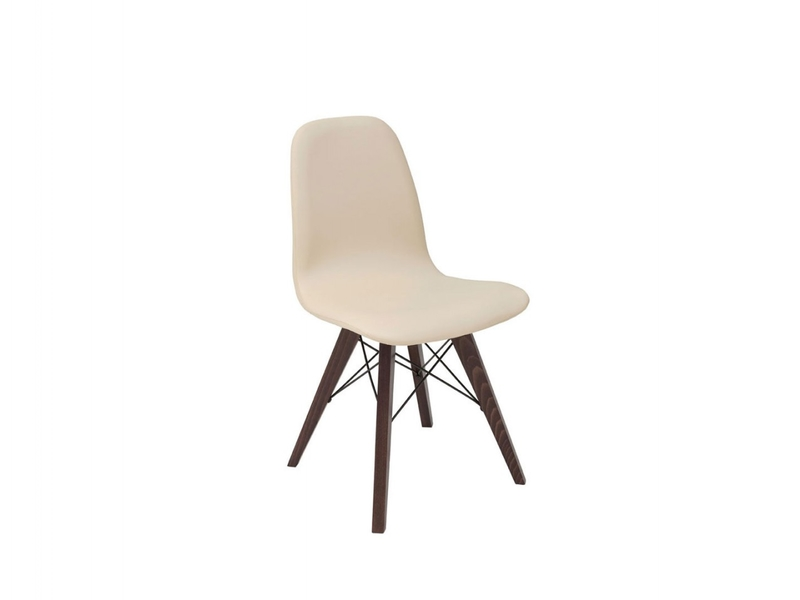 Charles Eames style Eiffel retro Beige Dining Chair - Azteca (Ultra)