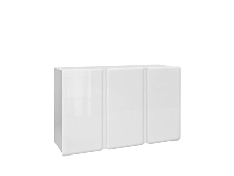 Trixo - Wide Sideboard Dresser Cabinet White Gloss (KOM3D4E)