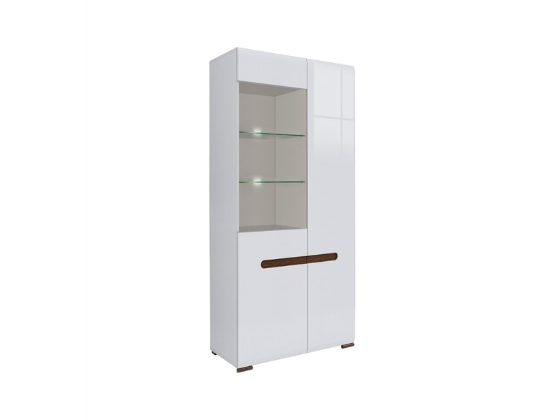 Azteca - Tall Wide Glass-Fronted Display Cabinet (REG1W1D/19/9)