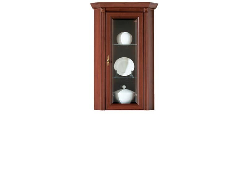 Stylius - Corner Glass-Fronted Dresser Display Cabinet Top Unit (NNAD 1WN)