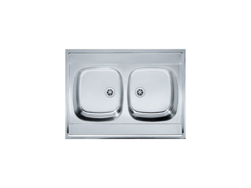 Franke - Double Bowl Sit Lay On Sink 800 x 600mm
