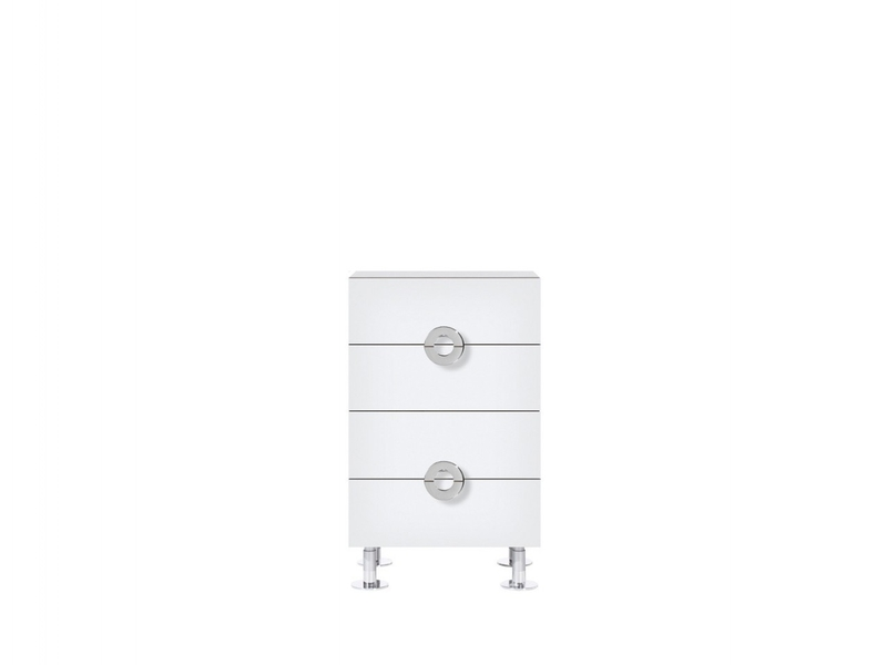Chest of 4 Drawers 50cm wide White High Gloss - Ringo (KOM4S/5/8)
