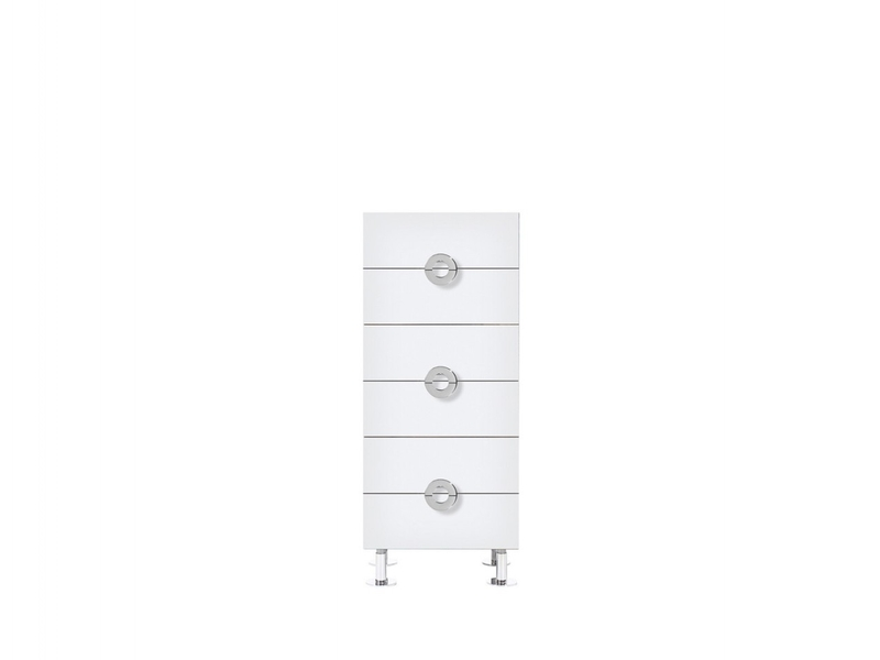 Ringo - Chest of 6 Drawers 50cm wide White High Gloss (KOM6S/5/12)