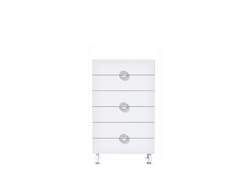 Chest of 6 Drawers 70cm wide White High Gloss - Ringo (KOM6S/7/12)