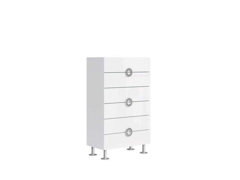 Modern Tall Wide Bedroom Chest Of Drawers Storage Unit 6 Drawer 70cm White Gloss Ringo S61 Kom6s 7 12 Bal Bip Kpl01