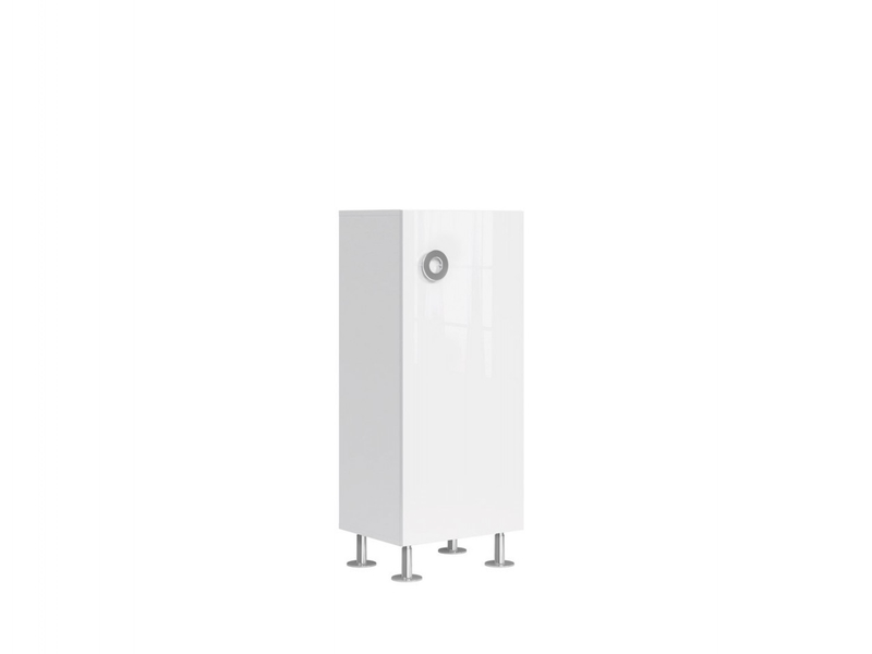 Modern Narrow 1-Door Storage Cabinet Unit 120cm White Gloss - Ringo (S61-SFK1D/5/12-BAL/BIP-KPL01)