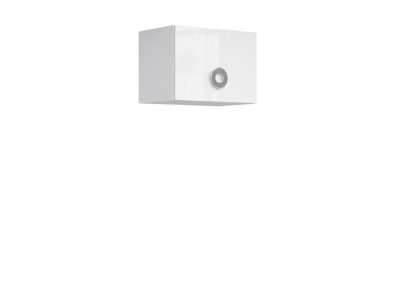 Modern Wall Cabinet Storage Unit Cupboard 50cm White Gloss - Ringo (S61-SFW1K/5/4-BAL/BIP-KPL01)