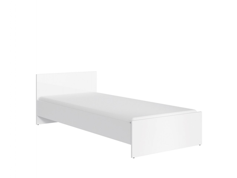 Single Bed White High Gloss - Ringo (LOZ/90)