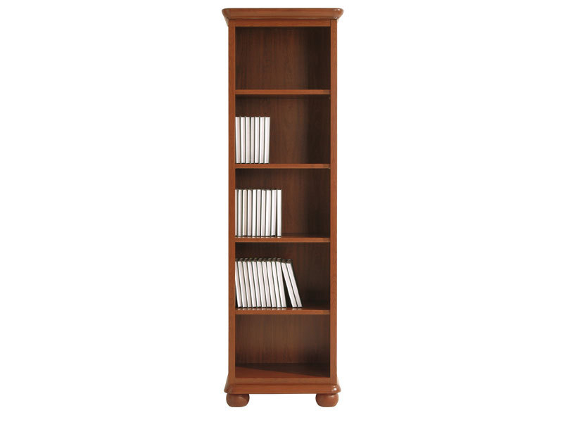 Classic Tall Bookcase Shelving Unit in Walnut wood finish - Bawaria (DREG 60 O)