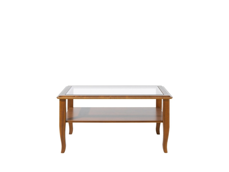 Vintage Inspired Rectangular Coffee Table In Cherry Wood Veneer With