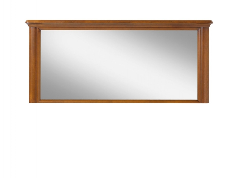 Vintage inspired Rectangular Wall Mirror Cherry Wood Veneer 140cm wide - Orland (LUS)