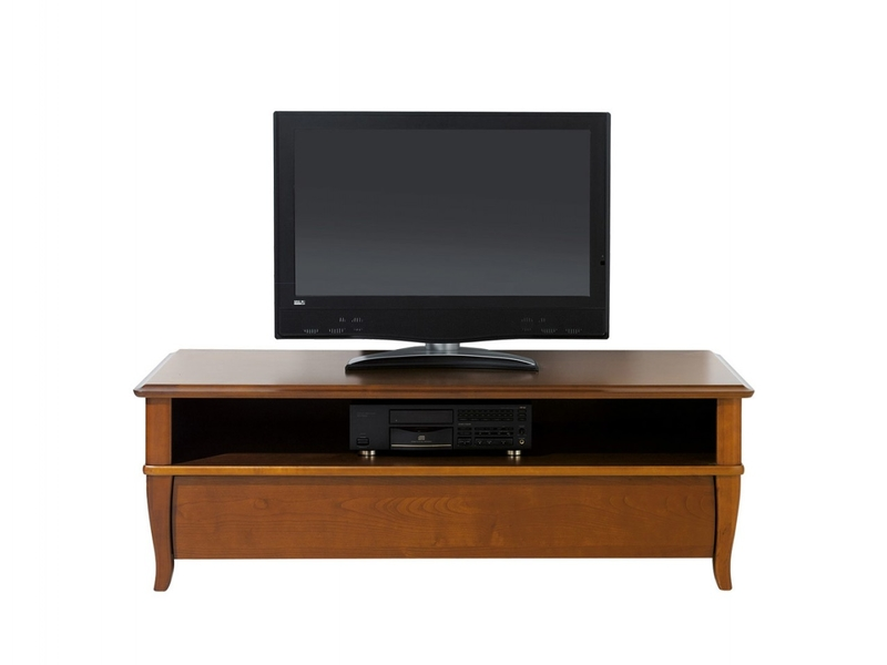 Traditional TV Stand Cabinet Cherry Wood Veneer with 1 Drawer - Orland (RTV1S/140)