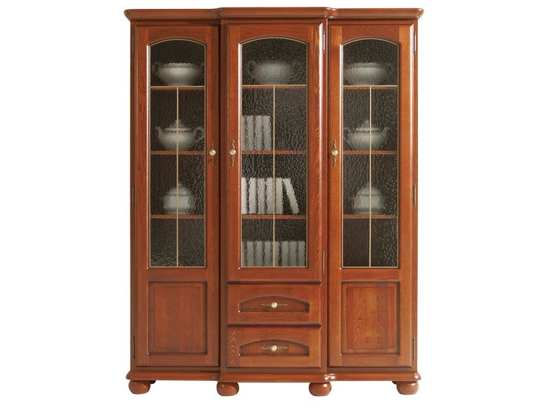 Glass Dresser Display Cabinet - Bawaria (DWIT 3D2S)