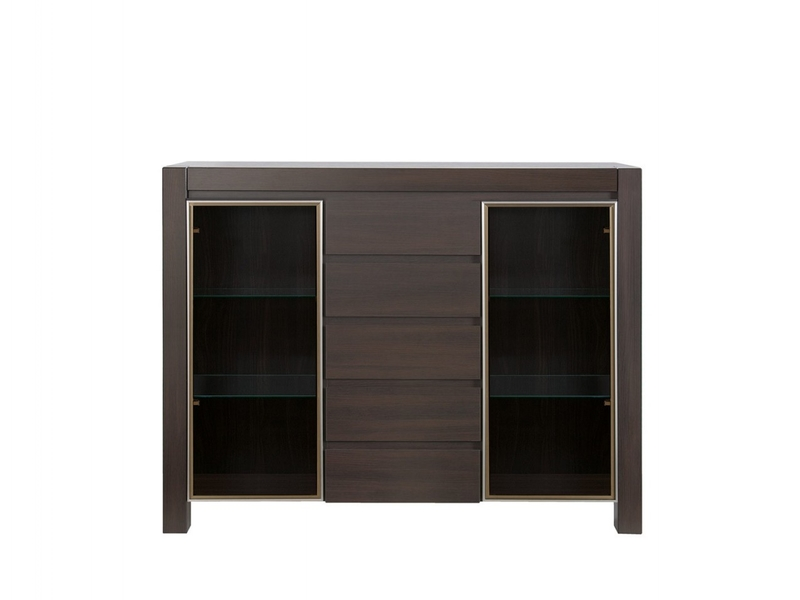 August - Glass Sideboard Display Cabinet (KOM2W5S)