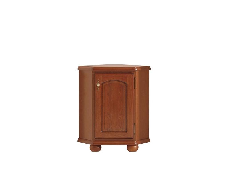 Corner Sideboard Dresser Cabinet Vintage Traditional Solid Wood Chestnut Finish - Bawaria (S11-DKOM1dn-KA/OW)