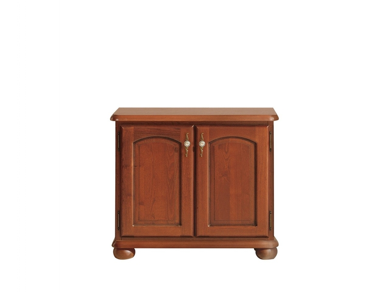 Small Traditional Sideboard Dresser Cabinet 2 Door Unit Solid Wood Chestnut Finish - Bawaria (S11-DKOM2d-KA/OW)