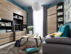 Moden - Corner Bookcase Shelf Cabinet  (REGN)
