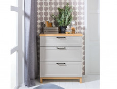 Scandinavian Chest of Drawers in Grey & Oak - Haga