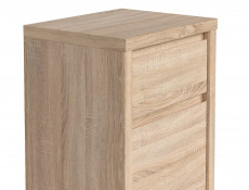 Modern Side Cabinet Small Storage Drawer Unit Sonoma Oak - Kaspian