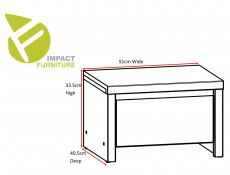 Modern Bedside Cabinet Side Table One Drawer White Matt - Kaspian (S128-KOM1S-BI/BI-KPL01)