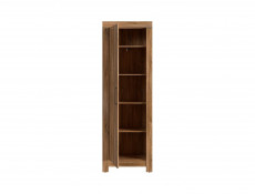 Modern Tall Narrow 1-Door Slim Wardrobe Tallboy Chiffonier Cabinet Hallway Storage Unit Oak finish - Gent