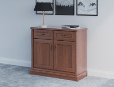 Small Sideboard Dresser Cabinet Traditional Living Room Chestnut Finish - Kent (S10-EKOM2d2s-KA-KPL05)